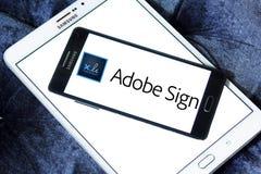 Логотип знака Adobe Стоковое Изображение