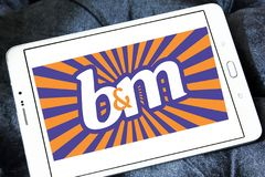 Логотип значения B&M европейский розничный Стоковое фото RF