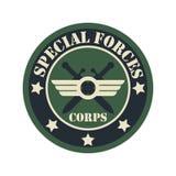 Логотип значка армии с космосом текста для ваших лозунга/слогана Стоковые Фотографии RF