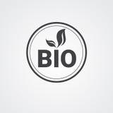 Логотип значка сети натурального продучта Eco дружелюбный органический иллюстрация вектора