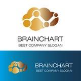 Логотип значка Brainchart Стоковое Фото