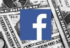 Логотип значка Facebook стоковое изображение