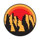 Логотип, значок или символ горы иллюстрация штока
