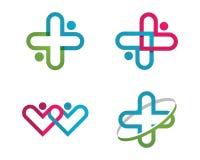 Логотип здоровья медицинский Стоковое Изображение