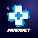 Логотип дизайна шаблона медицинский Стоковые Изображения