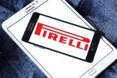 Логотип изготовителя покрышки Pirelli Стоковое Изображение RF