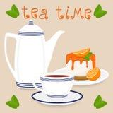 Логотип иллюстрации вектора для керамической чашки Стоковое Фото