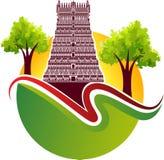 Логотип индусского виска стоковые изображения