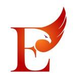 Логотип инициала e хоука вектора оранжевый Стоковые Фотографии RF