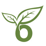 Логотип инициала o вектора зеленый Стоковая Фотография RF