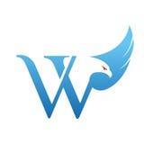 Логотип инициала VV хоука вектора голубой Стоковые Фотографии RF
