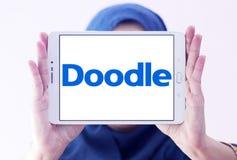 Логотип инструмента календаря интернета Doodle Стоковое Изображение RF