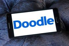 Логотип инструмента календаря интернета Doodle Стоковые Фото