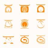 Логотип инструмента масштаба Стоковые Изображения RF