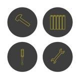 Логотип инструментов ремонта Hvac и топления иллюстрация вектора