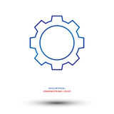 Логотип индустриальной инженерии Стоковые Изображения