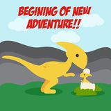 Логотип искусства вектора иллюстрации приключения динозавров Стоковое Фото