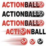 Логотип искусства шарика действия стоковое фото rf
