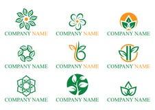 Логотип лист стоковые изображения