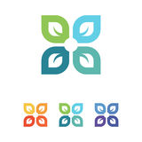 Логотип лист Стоковые Изображения RF