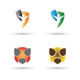 Логотип и вектор экрана Стоковые Изображения