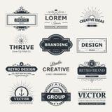 Логотип и вензеля дизайна Стоковое Фото