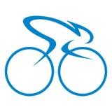 Логотип или значок графического дизайна гонки цикла Стоковое фото RF