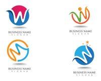 Логотип и символы дела логотипа w стоковое изображение