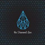 Логотип и символ конструируют о линии диаманта Стоковое Изображение RF