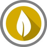 Логотип и шаблон лист стоковые изображения rf