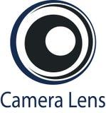 Логотип и шаблон объектива фотоаппарата стоковое фото rf