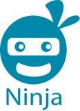 Логотип и шаблон шаржа Ninja стоковые изображения