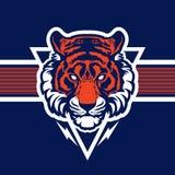 Логотип иллюстрации вектора головы талисмана тигра животный Стоковое фото RF