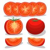 Логотип иллюстрации для красного томата Стоковое Изображение