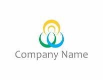 Логотип йоги и духовности Стоковые Изображения