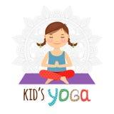 Логотип йоги ребенк Стоковая Фотография RF