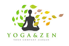 Логотип йоги Дзэн Стоковая Фотография