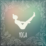 Логотип йоги Стоковое фото RF