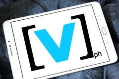 Логотип канала v Стоковые Изображения