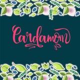 Логотип кардамона иллюстрация штока