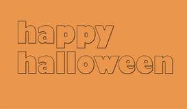 Логотип карточки хеллоуина стоковые изображения rf