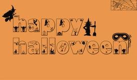 Логотип карточки хеллоуина стоковые фотографии rf