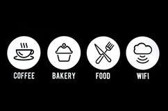 Логотип кафа Стоковые Фото