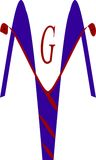 Логотип кадуцея Стоковое фото RF