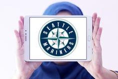 Логотип клуба бейсбола Сиэтл Маринерса Стоковое Изображение