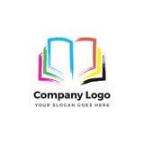 Логотип книги цвета иллюстрация вектора