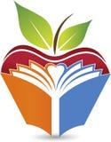 Логотип книги Яблока Стоковое Изображение
