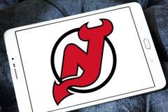 Логотип команды хоккея на льде дьяволов Нью-Джерси стоковая фотография rf