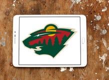 Логотип команды хоккея на льде Минесоты одичалый стоковые фотографии rf
