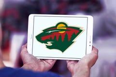 Логотип команды хоккея на льде Минесоты одичалый стоковое изображение rf
